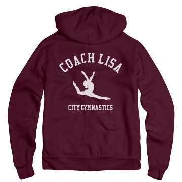 Coach Lisa Unisex Gildan Heavy Blend Full Zip Hoodie