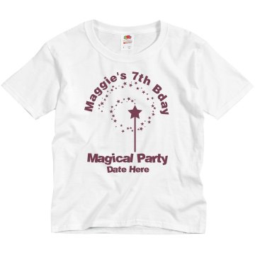 Magical Bday Party Youth Bella Girl 1x1 Rib Cap Sleeve Tee