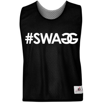 Swagg LAX Pinnie Badger Sport Lacrosse Reversible Practice Pinnie