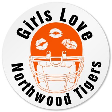 Northwood Tigers Football Round Sandstone Soaker Coaster