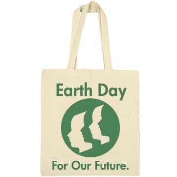 The Future of Earth Day Liberty Bags Canvas Tote