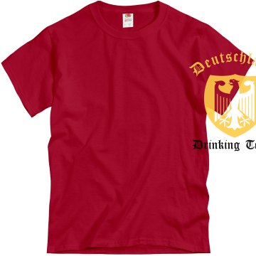 Deutschland Drinking Team Unisex Gildan Heavy Cotton Crew Neck Tee