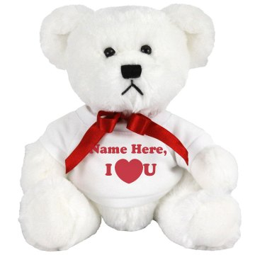 Jamaad I Heart You Medium Plush Teddy Bear