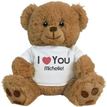 I Heart You Michelle Medium Plush Teddy Bear