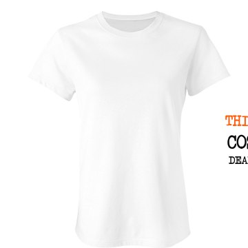 This is my costume Junior Fit Bella Crewneck Jersey Tee