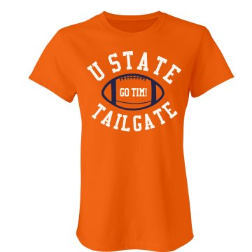Tailgate Junior Fit Bella Crewneck Jersey Tee