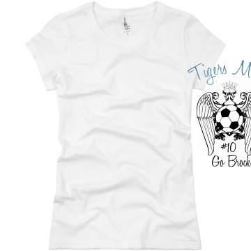 Tigers Soccer Mom Junior Fit Basic Bella Favorite Tee
