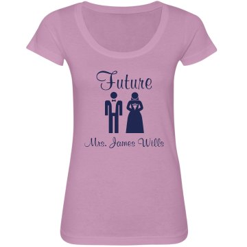 Future Mrs. James Wills Junior Fit Bella Sheer Longer Length Scoopneck Tee