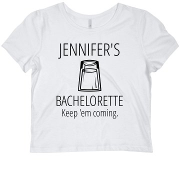 Bachelorette Martini Tee Junior Fit Bella Sheer Longer Length Scoopneck Tee