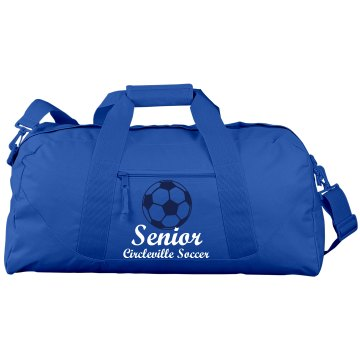 Senior Soccer Gear Port & Company Large Square Duffel Bag