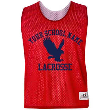 Eagles Mascot Lacrosse Badger Sport Lacrosse Reversible Practice Pinnie