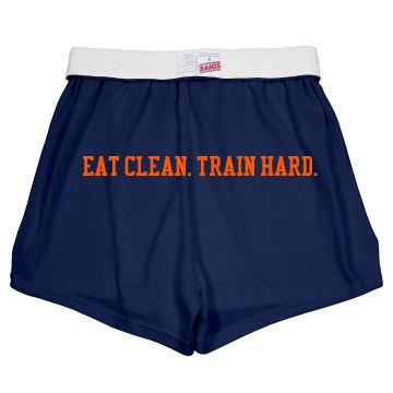 Train Hard Shorts Junior Fit Soffe Cheer Shorts
