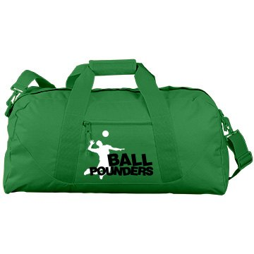 Ball Pounders Port & Company Large Square Duffel Bag