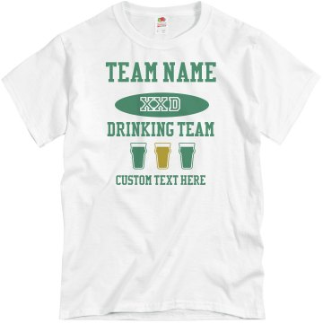 Drinking Team Member Unisex Basic Gildan Heavy Cotton Crew Neck Tee