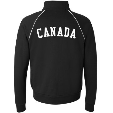 Canada Pride Jacket Unisex Canvas Fleece Full Zip Track Jacket