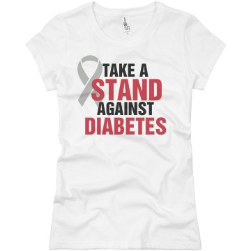 Take A Stand Against Junior Fit Basic Bella Favorite Tee