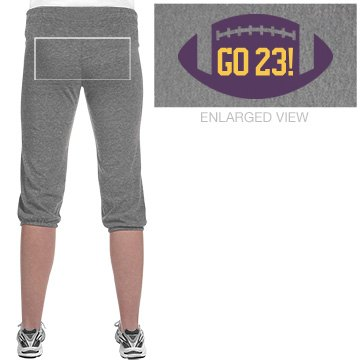 Football Girlfriend Junior Fit Soffe Fleece Capri
