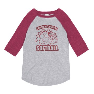 Cardinal Country Softball Youth Anvil Ringer Tee