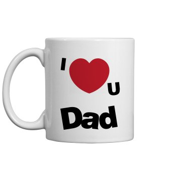 I Love You Mug 11oz Ceramic Coffee Mug