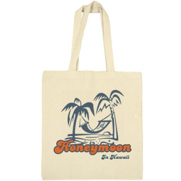 Honeymoon In Hawaii Liberty Bags Canvas Bargain Tote Bag