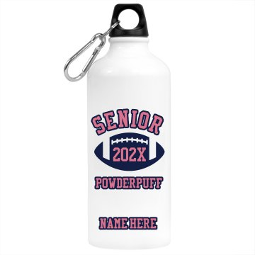 Senior Powderpuff Aluminum Water Bottle