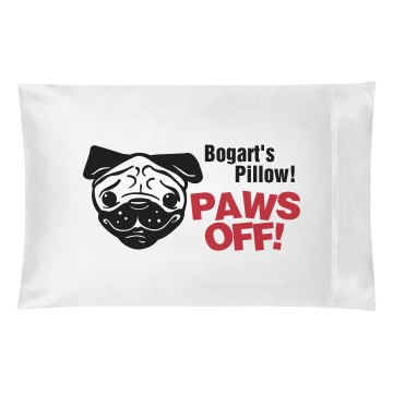 A Pug's Pillow Pillowcase