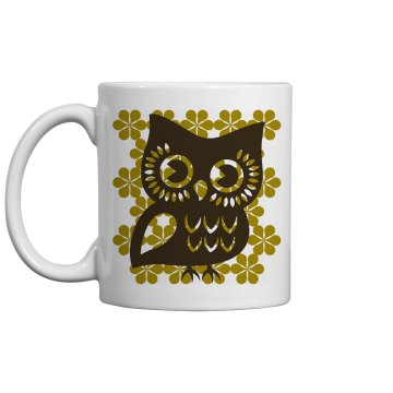 Vintage Inspired Owl 11oz Ceramic Coffee Mug
