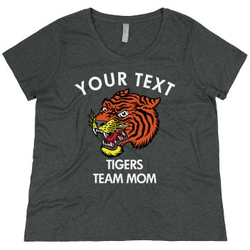CHS Softball Team Mom Junior Fit Bella Crewneck Jersey Tee