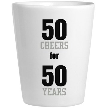50 Year Shot Glass Ceramic Shotglass