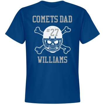 Comets Dad Unisex Gildan Heavy Cotton Crew Neck Tee