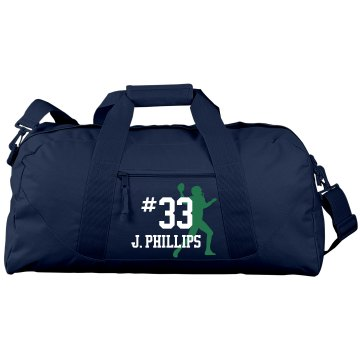 Football Duffel Bag Port & Company Large Square Duffel Bag