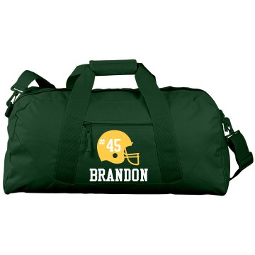 Football Bag Port & Company Large Square Duffel Bag