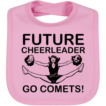 Future Comets Cheer Bib Infant Bella Baby 1x1 Rib Reversible Bib