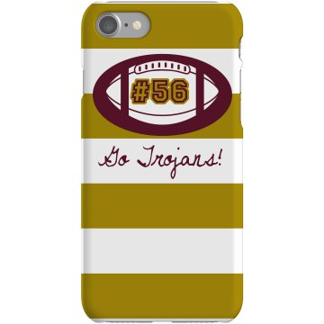 Football iPhone Case Plastic iPhone 5 Case Black