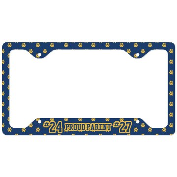 Proud Payton Football License Plate Cover