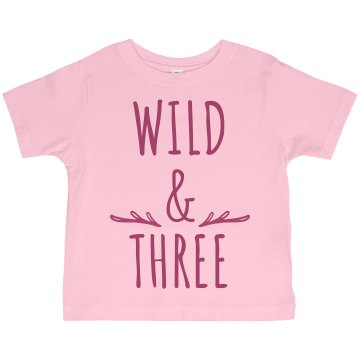 I Am 3 Years Old! Toddler Basic Gildan Ultra Cotton Crew Neck Tee