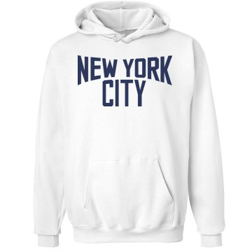 New Yok City Hoodie Unisex Hanes Ultimate Cotton Heavyweight Hoodie