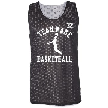 3 on 3 Basketball w/ Back Badger Sport Mesh Reversible Tank