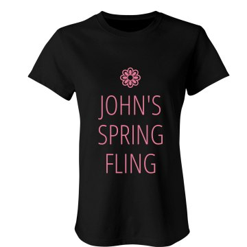 John's Spring Fling Junior Fit Bella Sheer Longer Length Scoopneck Tee