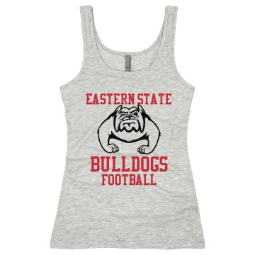 Bulldog Football Junior Fit Soffe 2x1 Rib Tank Top