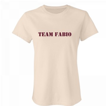 Team Fabio Junior Fit Bella Crewneck Jersey Tee
