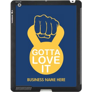 Gotta Love Kettlebell Black iPad Smart Cover