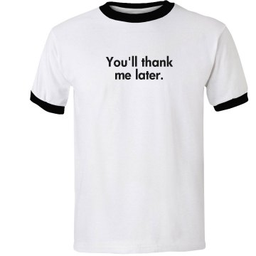 Thanks Trainer w&#x2F; Back Unisex Anvil Ringer Tee