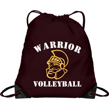 Warrior Volleyball Bag Port & Company Drawstring Cinch Bag