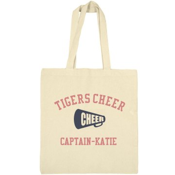 Tigers Cheer Bag Liberty Bags Canvas Bargain Tote Bag