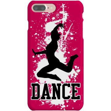 Dance iPhone Cover Rubber iPhone 4 & 4S Case Black