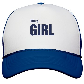 Tim's Girl Trucker Hat Valucap Poly-Foam Snapback Trucker Hat