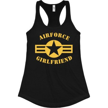 Air Force Star Junior Fit Bella Sheer Longer Length Rib Racerback Tank Top