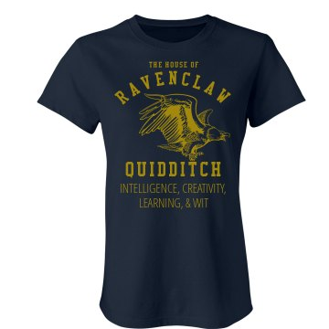 Ravenclaw Quidditch Fan Junior Fit American Apparel Fine Jersey Tee