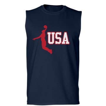 USA Basketball Unisex Gildan Ultra Cotton Sleeveless Tee